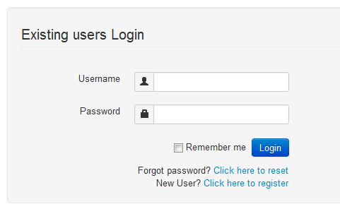 Bootstrap Login Template Bootstrap Login Form